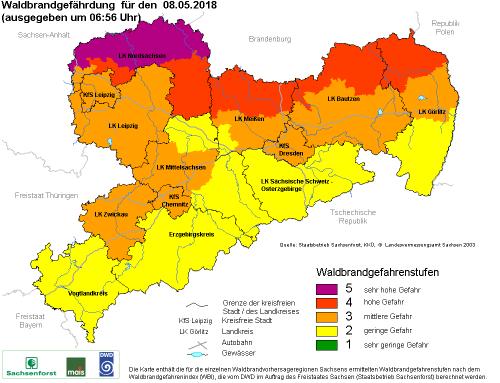 Waldbrandgefahr in Sachsen